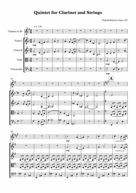 Clarinet Quintet Opus 205