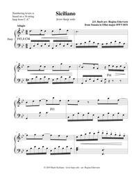 Siciliano (Bach) - lever harp solo
