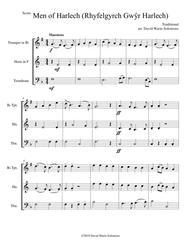 Men of Harlech (Rhyfelgyrch Gwŷr Harlech) for brass trio (trumpet, horn, trombone)