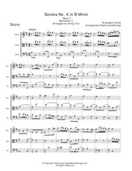 Corelli, A. - Trio No. 4 (Mvt. 3) for Violin, Viola and Cello