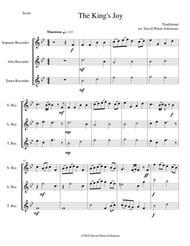 The King's Joy for recorder trio (soprano, alto, tenor)