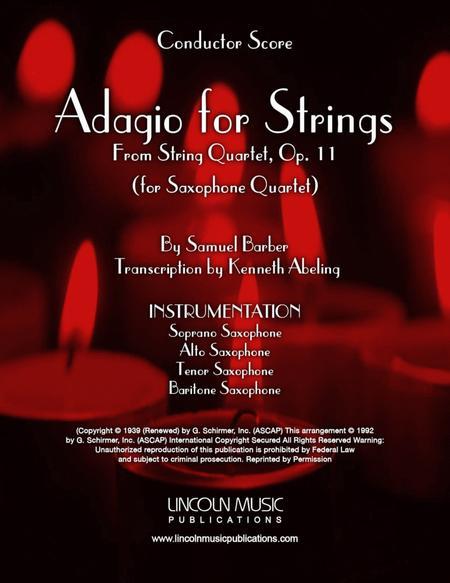 Barber - Adagio for Strings (for Saxophone Quartet SATB)