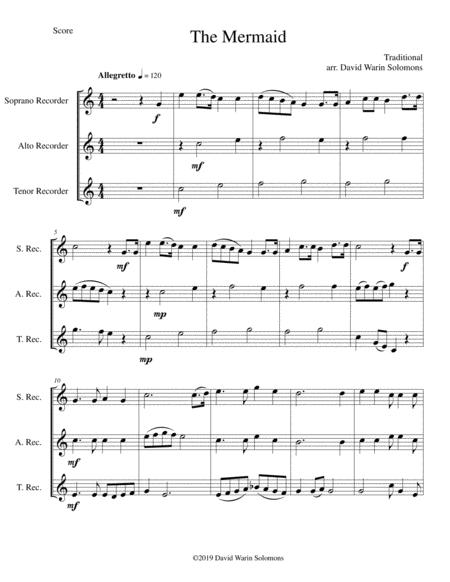 The Mermaid for recorder trio (soprano, alto, tenor)