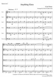 Anything Goes by Cole Porter arranged for 5 part flexible ensemble by David Catherwood