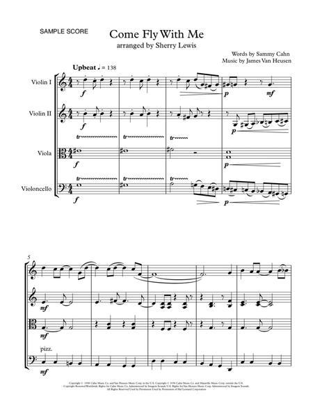 Come Fly With Me STRING QUARTET (for string quartet)
