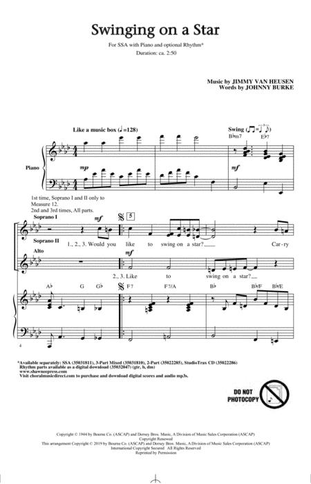 Swinging on a Star (arr. Greg Gilpin)