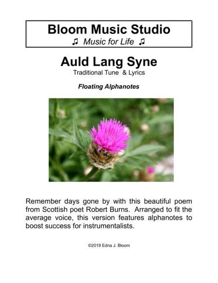 Auld Lang Syne - Floating Notes Version