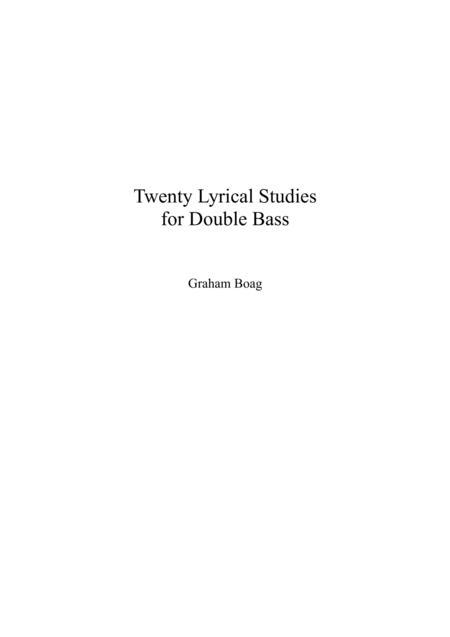 Twenty Lyrical Studies for Double Bass