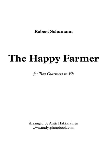 The Happy Farmer - for 2 Clarinets in Bb
