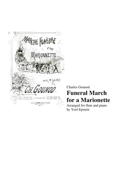 Charles Gounod Funeral March for a Marionette, for flute and piano