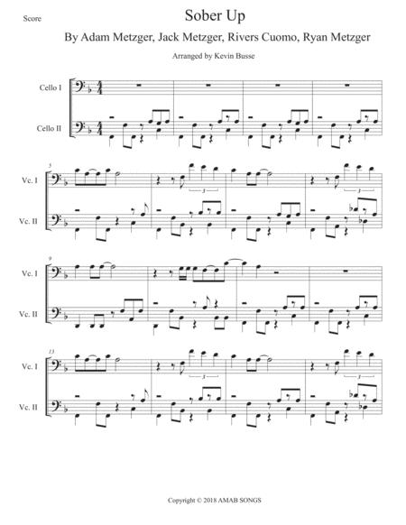 Download Sober Up - Cello Duet Sheet Music By Ajr Featuring