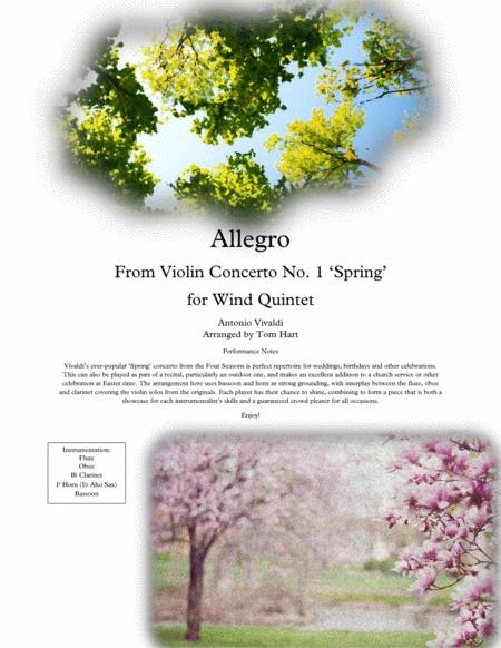 Spring from the Four Seasons - Wind Quintet