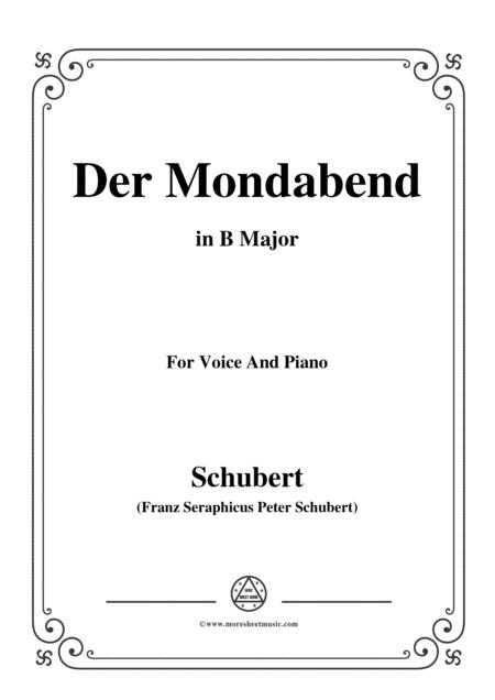 Schubert-Der Mondabend,Op.131 No.1,in B Major,for Voice&Piano