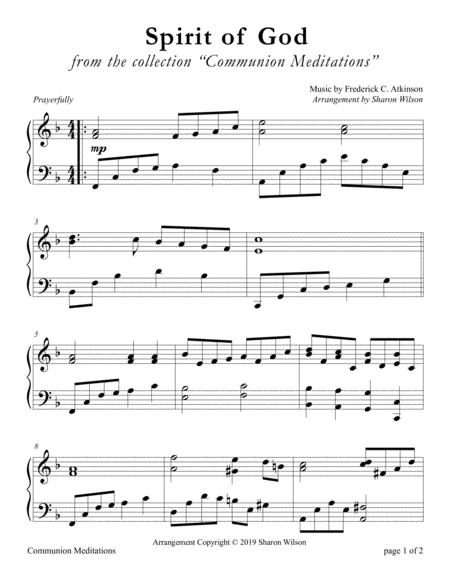 Spirit of God, Descend upon My Heart (LARGE PRINT Piano Solo)