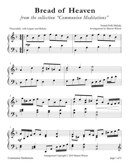 Bread of Heaven (LARGE PRINT Piano Solo)