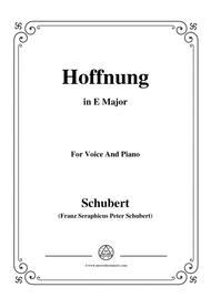 Schubert-Hoffnung,in E Major,for Voice&Piano