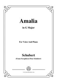 Schubert-Amalia,Op.173 No.1,in G Major,for Voice&Piano
