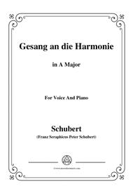 Schubert-An die Harmonie(Gesang an die Harmonie),D.394,in A Major,for Voice&Piano