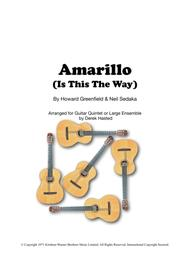 Amarillo (is This The Way To) - 5 Guitars or large Ensemble