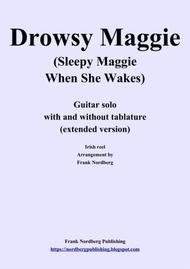 Drowsy Maggie, extended version (solo guitar with and without tablature)