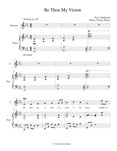 Be Thou My Vision - contemporary setting for voice and piano