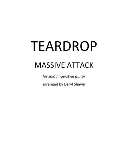 Teardrop (Massive Attack) for solo fingerstyle guitar
