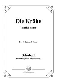 Schubert-Die Krähe,in a flat minor,Op.89 No.15,for Voice and Piano
