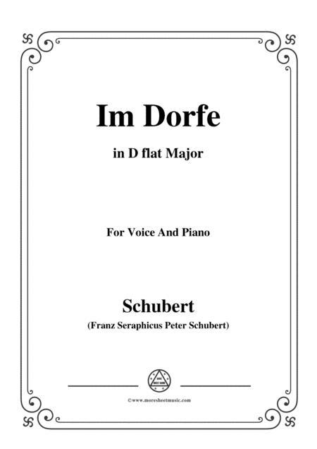 Schubert-Im Dorfe,in D flat Major,Op.89 No.17,for Voice and Piano