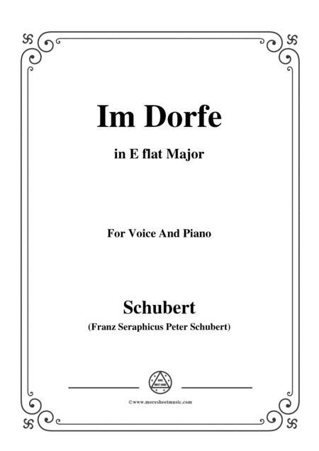 Schubert-Im Dorfe,in E flat Major,Op.89 No.17,for Voice and Piano