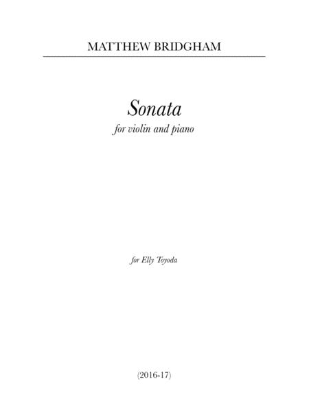 Sonata for violin and piano (2016-17)