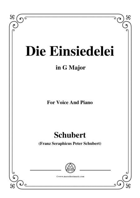 Schubert-Die Einsiedelei(The Hermitage),in G Major,D.393,for Voice&Piano