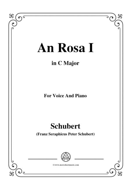 Schubert-An Rosa I(To Rosa),D.316,in C Major,for Voice&Piano
