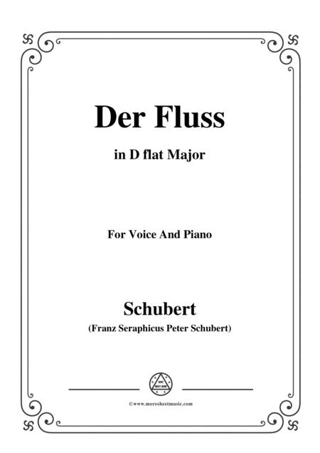 Schubert-Der Fluss,in D flat Major,for Voice&Piano