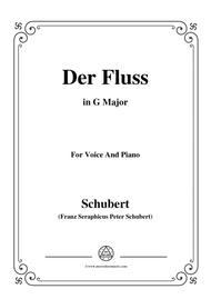 Schubert-Der Fluss,in G Major,for Voice&Piano