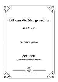 Schubert-Lilla an die Morgenröte,in E Major,for Voice&Piano