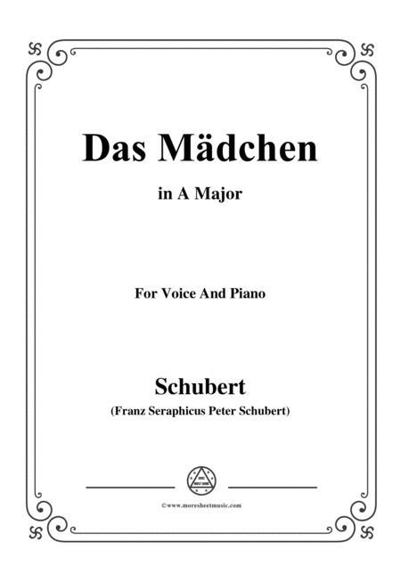 Schubert-Das Mädchen,in A Major,for Voice&Piano