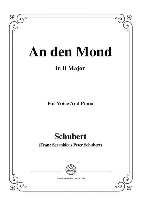Schubert-An den Mond, D.296,in B Major,for Voice&Piano