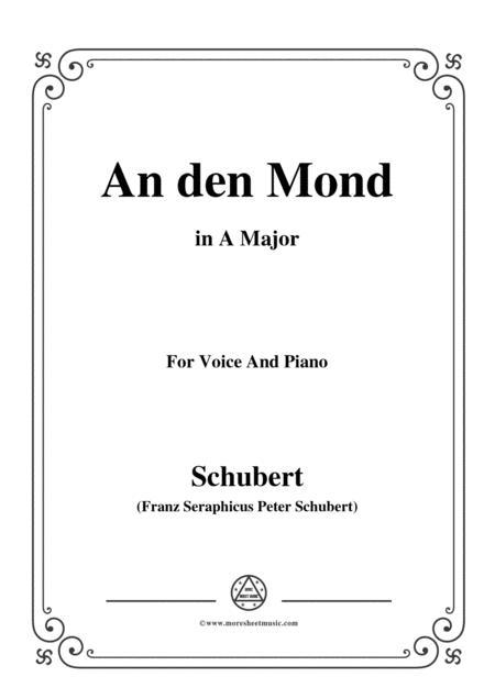 Schubert-An den Mond, D.296,in A Major,for Voice&Piano