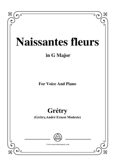 Grétry-Naissantes fleurs,from 'Céphale et Procris',in G Major,for Voice and Piano