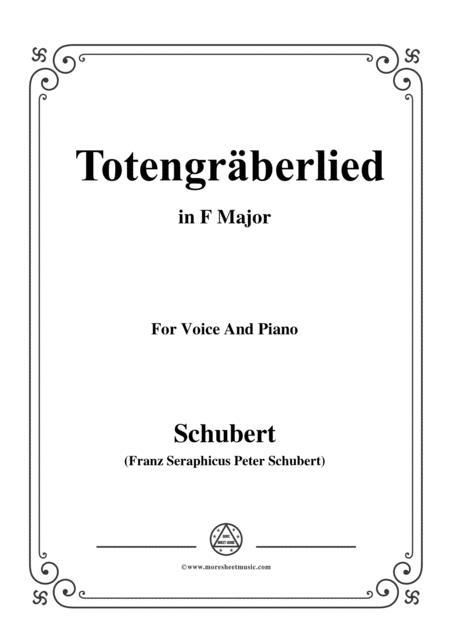 Schubert-Totengräberlied(Gravedigger's Song),D.44,in F Major,for Voice&Piano
