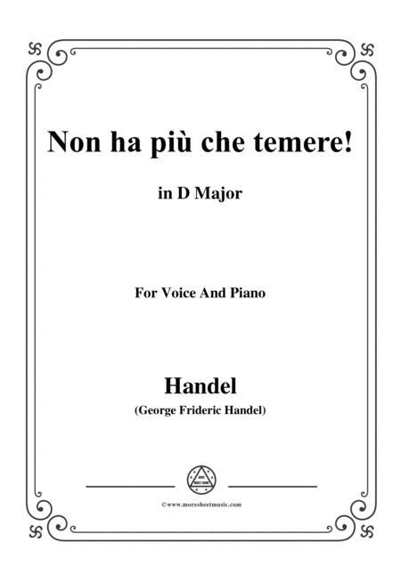 Handel-Non ha più che temere,from 'Giulio Cesare',in D Major,for Voice and Piano