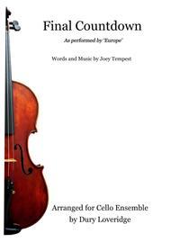 Final Countdown - Europe - Cello Ensemble - Cello Quartet