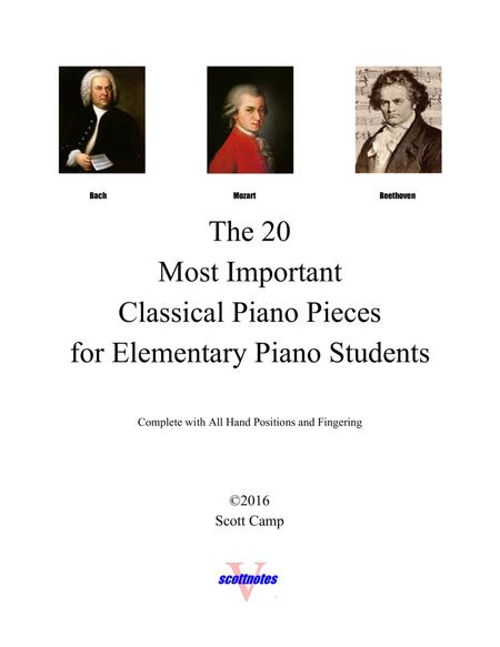 20 Classical Piano Pieces for Elementary Piano Students (with all piano fingering)