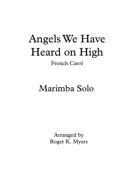 Angels We Have Heard on High - Marimba Solo