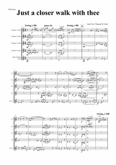 Just A Closer Walk With Thee - New Orleans Funeral  - Clarinet Quintet