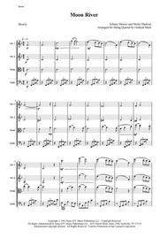 Moon River - for String Quartet