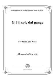 Scarlatti-Già il sole dal gange,for Violin and Piano
