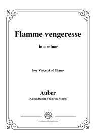 Auber-Flamme Vengeresse,from'Le Domino Noir',in a minor,for Voice and Piano