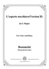 Bononcini Giovanni-L'esperto nocchiero(Version II),from 'Astarte',in G Major,for Voice and Piano