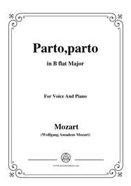 Mozart-Parto,parto,from 'La Clemenza di Tito',in B flat Major,for Voice and Piano